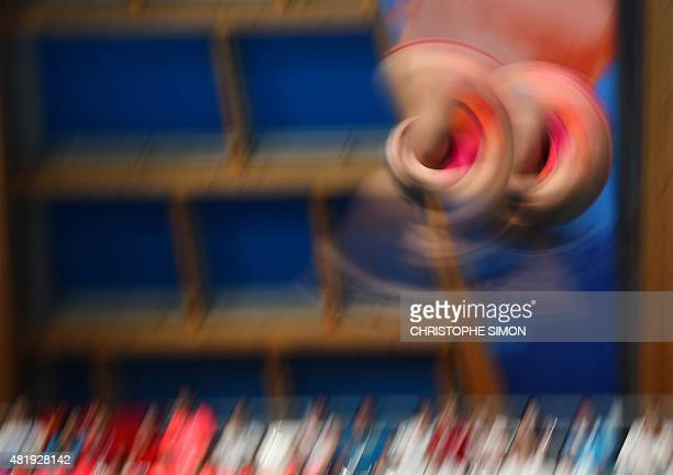 Divers compete in the women's 3m Springboard Synchronised final diving event at the 2015 FINA World Championships in Kazan on July 25 2015 AFP PHOTO...
