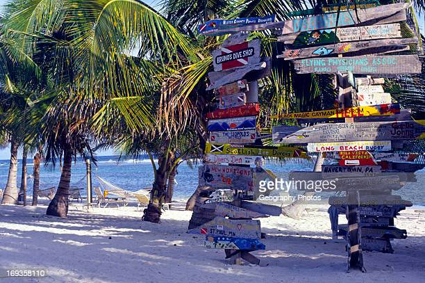 Divers signs Cayman Brac Cayman Islands British West Indies