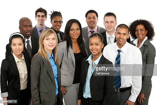 Diverse business people