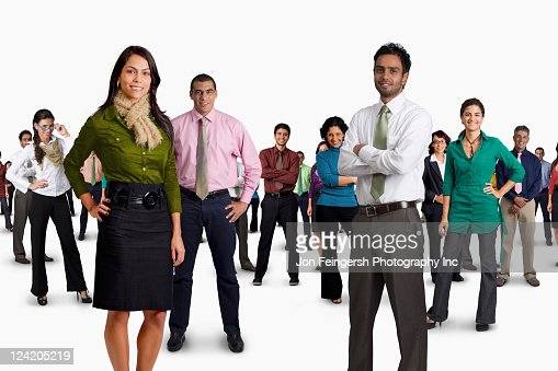 Diverse business people standing together : Stock Photo