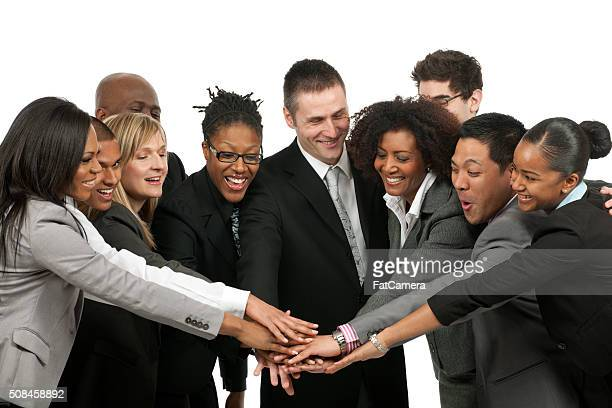 Diverse business team teamwork