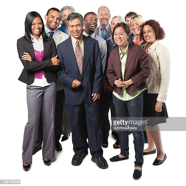 Diverse group of business people, full body shot