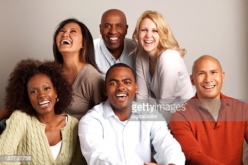 Diverse Group Of Friends Stock Photo | Getty Images