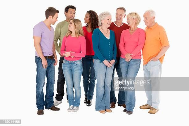 人々の多様なグループにカジュアルウェア-絶縁型
