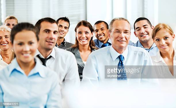 Diverse group of professionals smiling