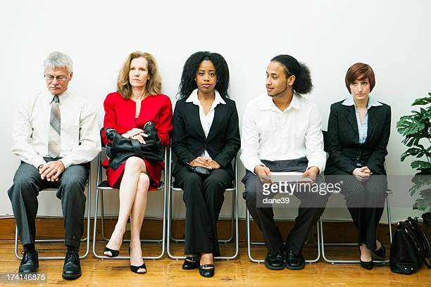 Diverse group waiting for an interview