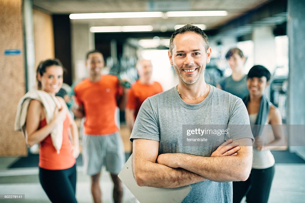 Diverse People in GYM : Stock Photo