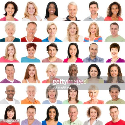 Diverse People Smiling
