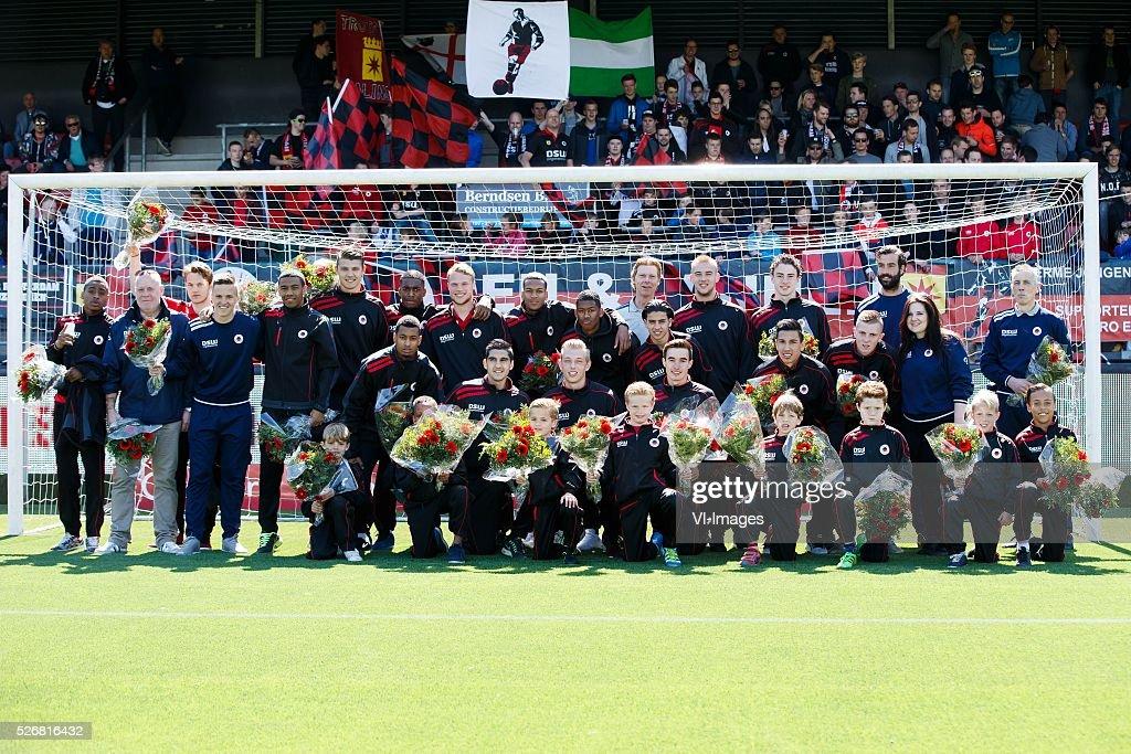 diversen kampioenen teams van Excelsior during the Dutch Eredivisie match between Excelsior Rotterdam and PEC Zwolle at Woudenstein stadium on May 01, 2016 in Rotterdam, The Netherlands