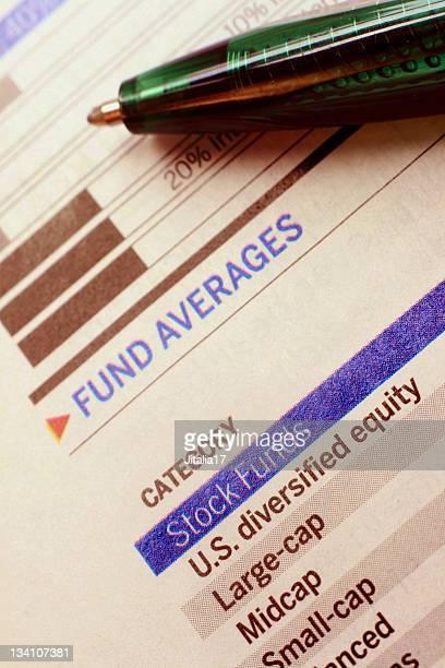 Diversifizierung-Investmentfonds Kategorien