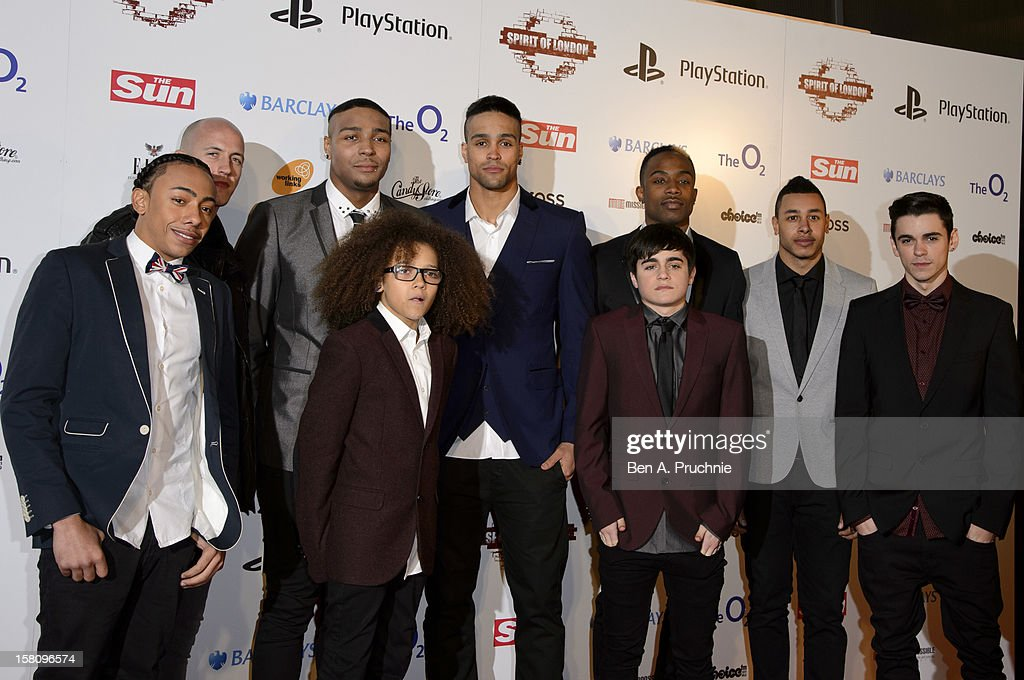 Diversity attend the Spirit Of London Awards at O2 Arena on December 10, 2012 in London, England.