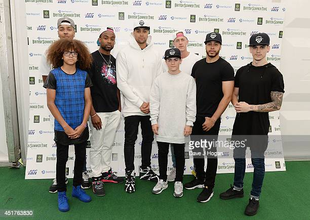 Diversity backstage at British Summer Time Festival at Hyde Park on July 6 2014 in London United Kingdom