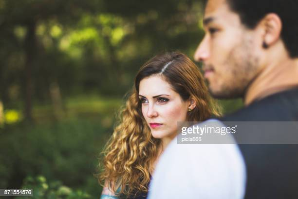 Diversity: multiethnic stylish couple