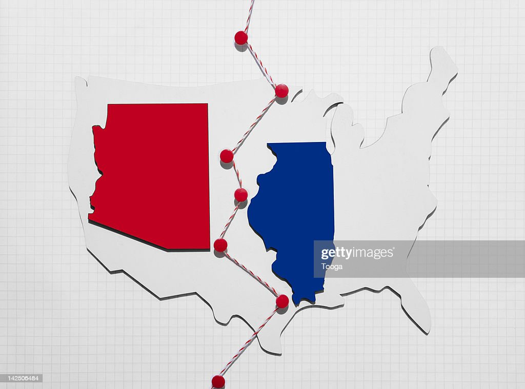 Divided Country of Red and Blue states : Stock Photo