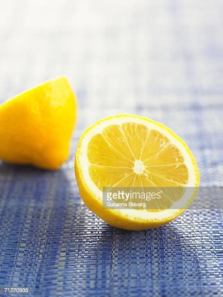 A divided lemon.