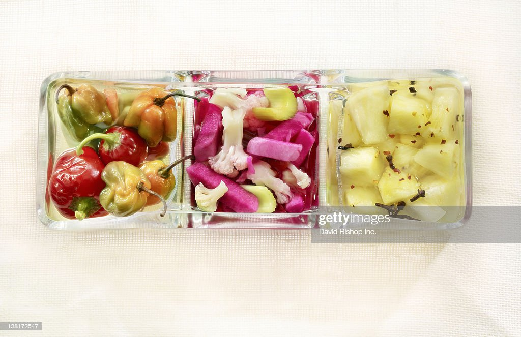 Divided Pickle Dish : Stock Photo
