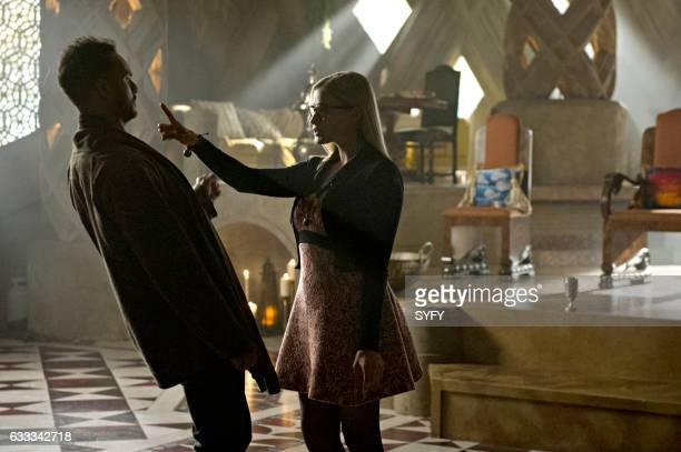 THE MAGICIANS 'Divine Elimination' Episode 203 Pictured Arjun Gupta as Penny Olivia Taylor Dudley as Alice