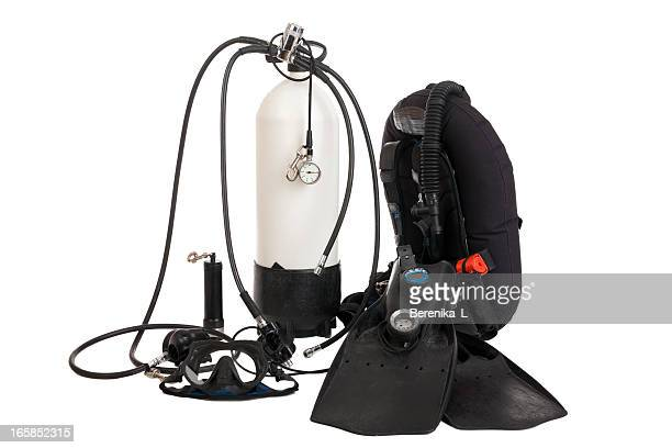 Diving equipment isolate on white
