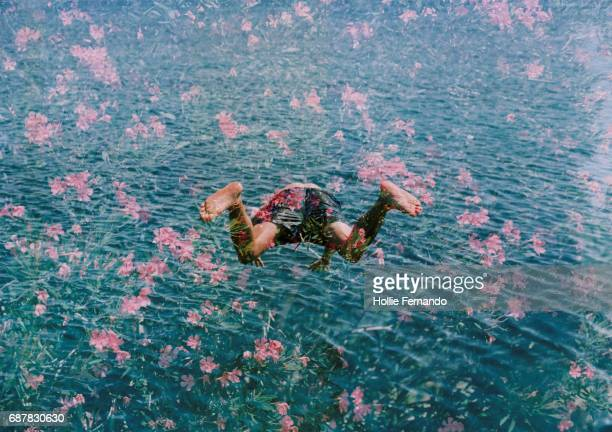 Diving into Pink Flowers