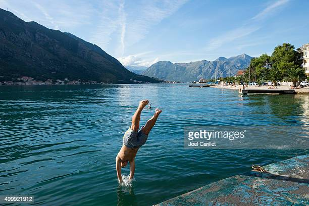 Diving into the Sea in Kotor
