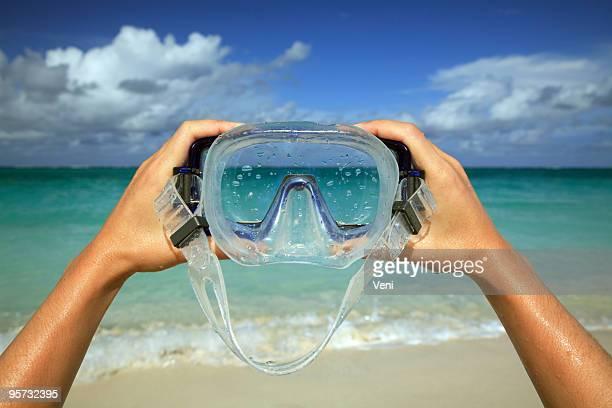 Diving Maske Beach malerischen