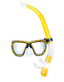 Diving underwater mask isolated,snorkel.