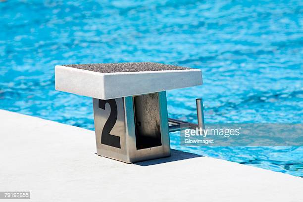 Diving platform at a swimming pool