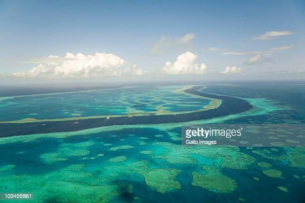 Diving platforms near reef, Great Barrier Reef, Queensland, Australia