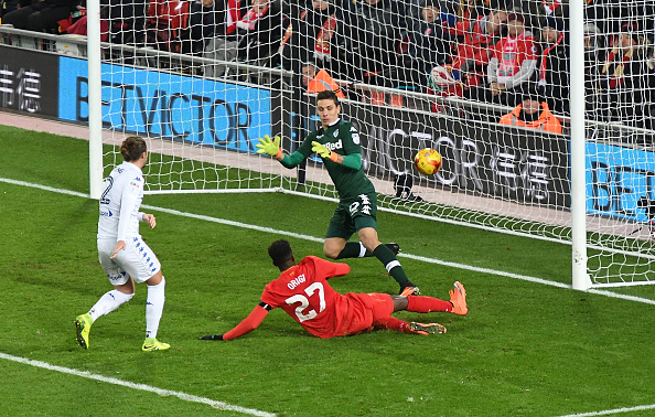 Liverpool v Leeds United - EFL Cup Quarter-Final : News Photo