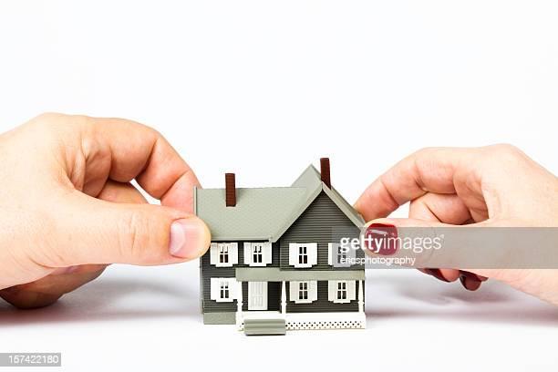 Divorce et anneau de documents