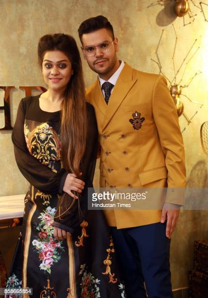 Divya Israni and Kriissna Mehrra during the launch of a new menswear store at South Extension 1 on October 2 2017 in New Delhi India The massive...