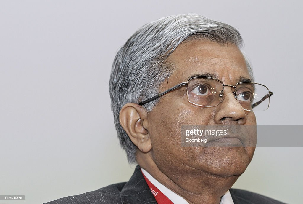 Diwakar Gupta, managing director and chief financial officer of State Bank of India Ltd. (SBI), attends the PwC CFO Conclave in Mumbai, India, on Wednesday, Dec. 5, 2012. The mode of the 40 billion rupee capital infusion to be received by SBI in March is to be decided by the government, Gupta said. Photographer: Dhiraj Singh/Bloomberg via Getty Images