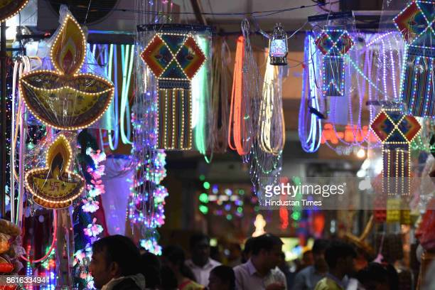 Diwali shopping at APMC Market on October 13 2017 in Navi Mumbai India