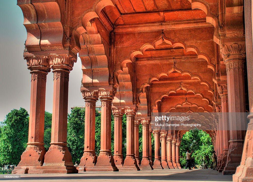 Diwan-i-Aam, Red Fort, Delhi : Stock Photo