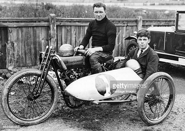 FW Dixon on a HarleyDavidson with a passenger in the sidecar 1921