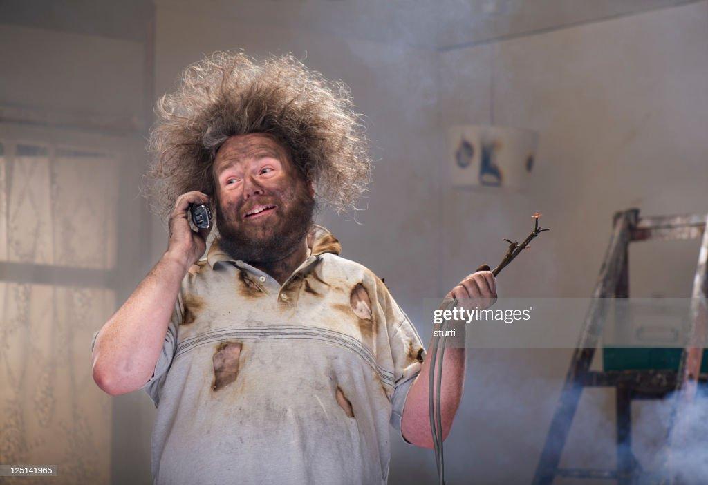 diy phone for help : Stock Photo