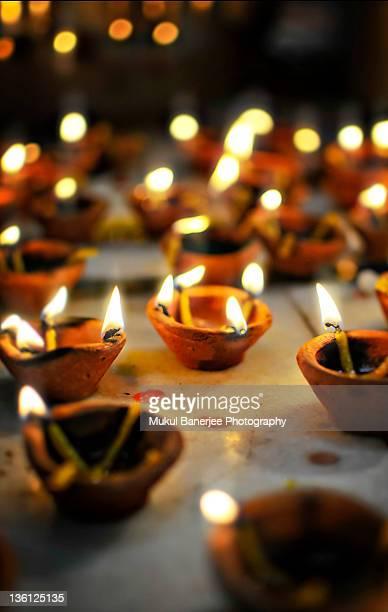 Diyas on diwali