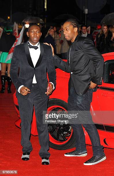 Dizzee Rascal and Lemar attend the UK Film Premiere of 'Kick Ass' at Empire Leicester Square on March 22 2010 in London England