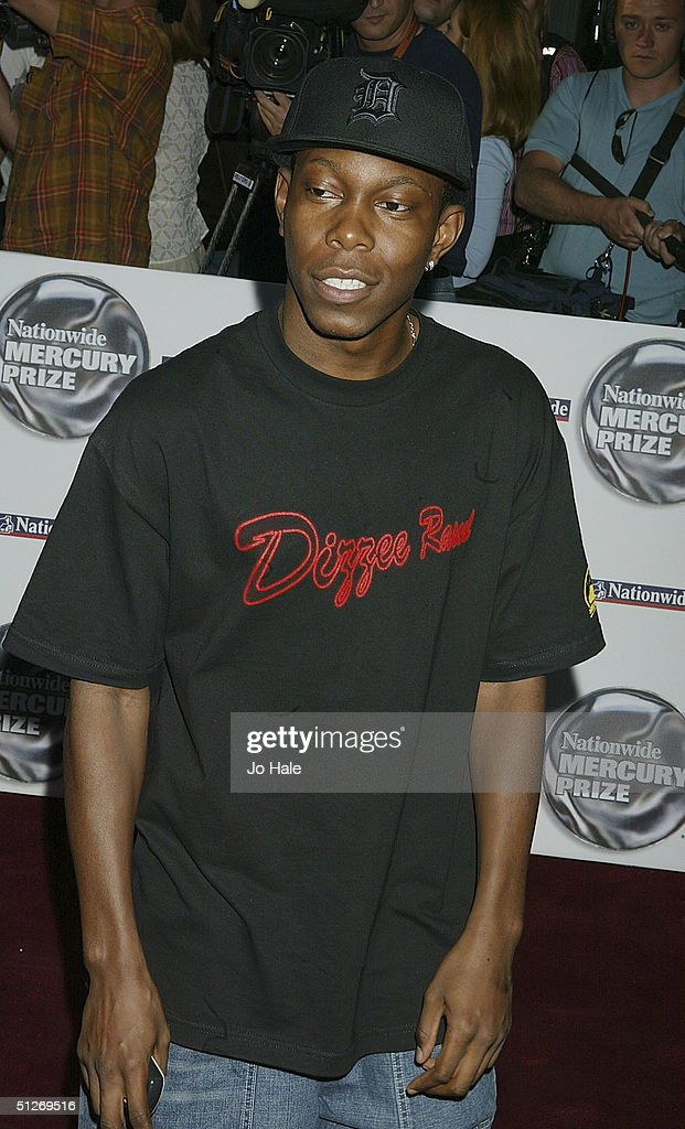 Dizzee Rascal arrives at the annual 'Nationwide Mercury Music Prize' at the Grosvenor House on September 7, 2004 in London. Making the 12-album shortlist this year are Basement Jaxx (Kish Kash), Belle & Sebastian (Dear Catastrophe Waitress), Franz Ferdinand (Franz Ferdinand), Jamelia (Thank You), Keane (Hopes and Fears), Snow Patrol (Final Straw), Joss Stone (The Soul Sessions, The Streets (A Grand Don't Come For Free), Ty (Upwards), Amy Winehouse (Frank), Robert Wyatt (Cuckooland) and The Zutons (Who Killed The Zutons).