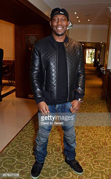 Dizzee Rascal arrives at the Xperia Access Q Awards at The Grosvenor House Hotel on October 22 2014 in London England