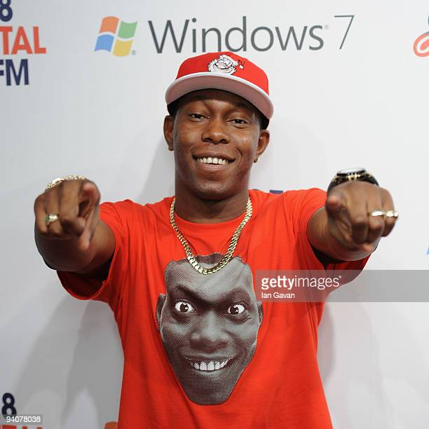 Dizzee Rascal attends the Capital FM Jingle Bell Ball Day 2 at 02 Arena on December 6 2009 in London England