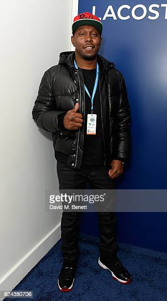 Dizzee Rascal attends the Lacoste VIP Lounge at ATP World Finals 2016 on November 18 2016 in London England