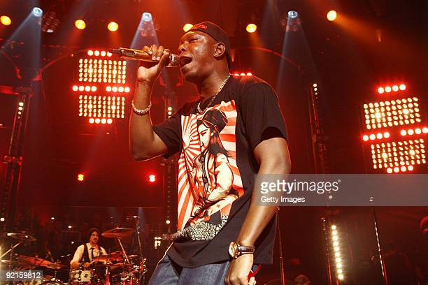 Dizzee Rascal performs as part of BBC's Electric Proms festival inspired by its classical summer Proms series held at The Roundhouse on October 21...