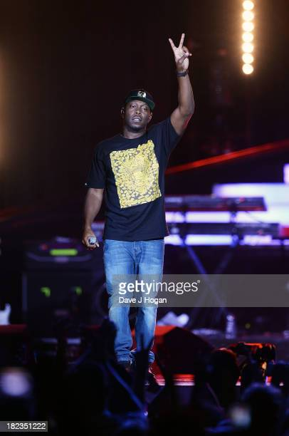 Dizzee Rascal performs at 'Unity A Concert For Stephen Lawrence' in aid of The Stephen Lawrence Charitable Trust at the O2 Arena on September 29 2013...