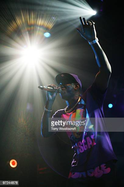 Dizzee Rascal performs at Wolverhampton Civic Hall on March 1 2010 in Wolverhampton England