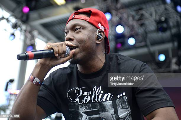 Dizzee Rascal performs during the Ultra Music Festival at Bayfront Park Amphitheater on March 30 2014 in Miami Florida