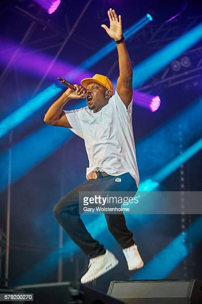 Dizzee Rascal performs on the Ponderosa Stage at Tramlines Festival on July 22 2016 in Sheffield England