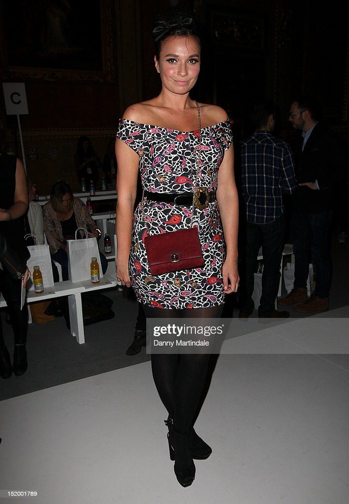 Dizzi Erskine attends the front row for the PPQ show on day 1 of London Fashion Week Spring/Summer 2013, at Goldsmiths Hall on September 14, 2012 in London, England.