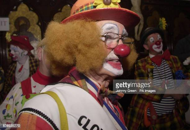 Dizzy Dez Clona from Derbyshire and Clowns from across the United Kingdom gather for the 58th Annual Grimaldi Service at the 'Clown's Church' in...