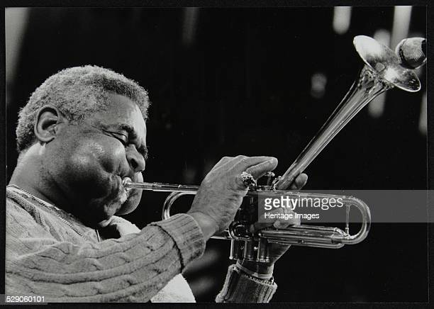 Dizzy Gillespie peforming with the Royal Philharmonic Orchestra Royal Festival Hall London 1 November 1985 Artist Denis Williams
